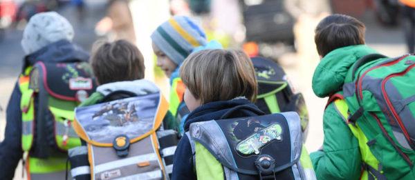 Школьники идут в школу